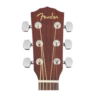 Fender CD-60SCE Mahogany Dreadnought Electro Acoustic Guitar, Natural Headstock