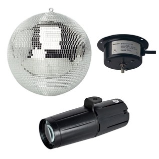ADJ Pinspot LED II with Mirror Ball and Motor