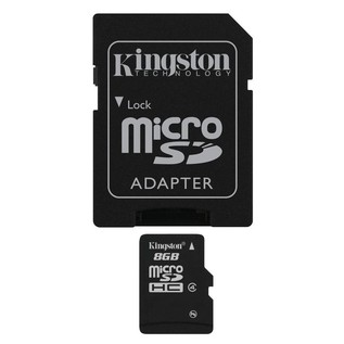 Kingston 8GB Class 4 MicroSDHC Card - Main