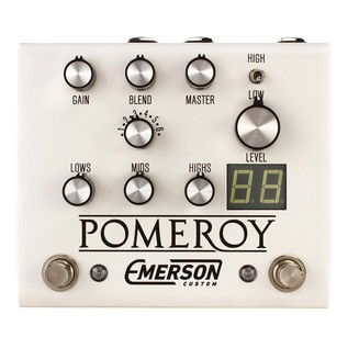 Emerson Custom Pomeroy Overdrive, Boost & Distortion Pedal, White