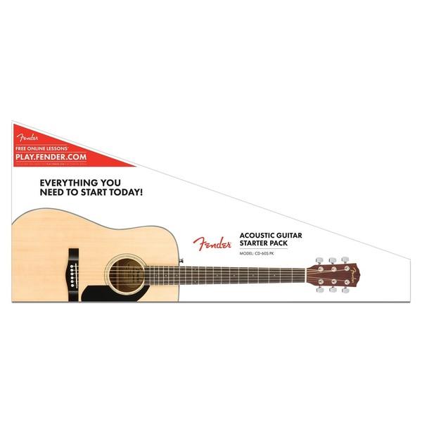 Fender CD-60S Dreadnought Pack, Natural