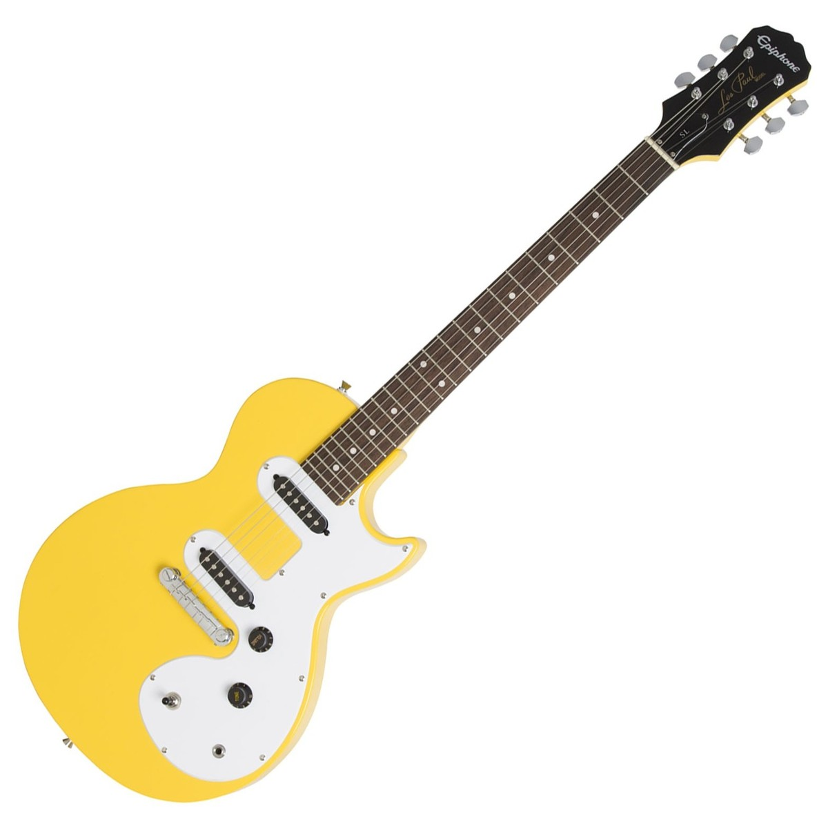 Click to view product details and reviews for Epiphone Les Paul Sl Sunset Yellow.