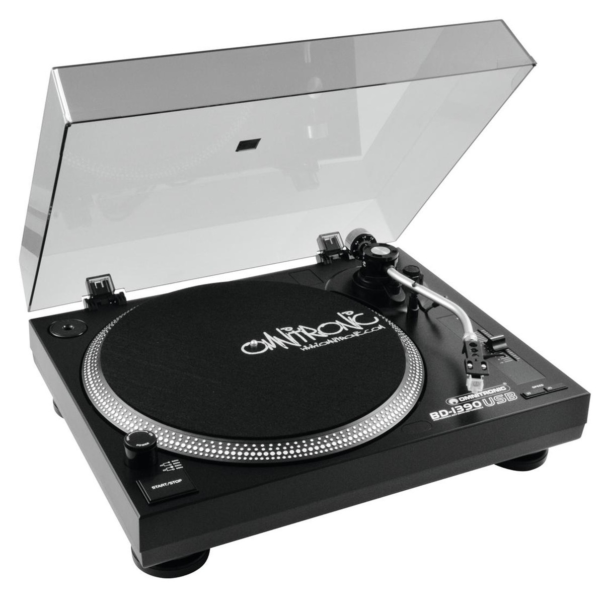 Omnitronic BD-1390 USB Turntable, Black
