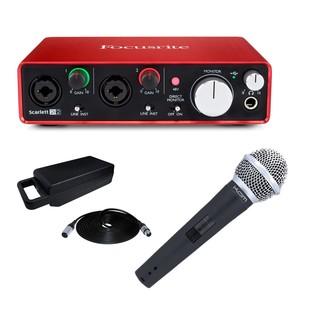 Focusrite Scarlett 2i2 (2nd Gen) with KAM KDM580 V3 Dynamic Vocal Microphone
