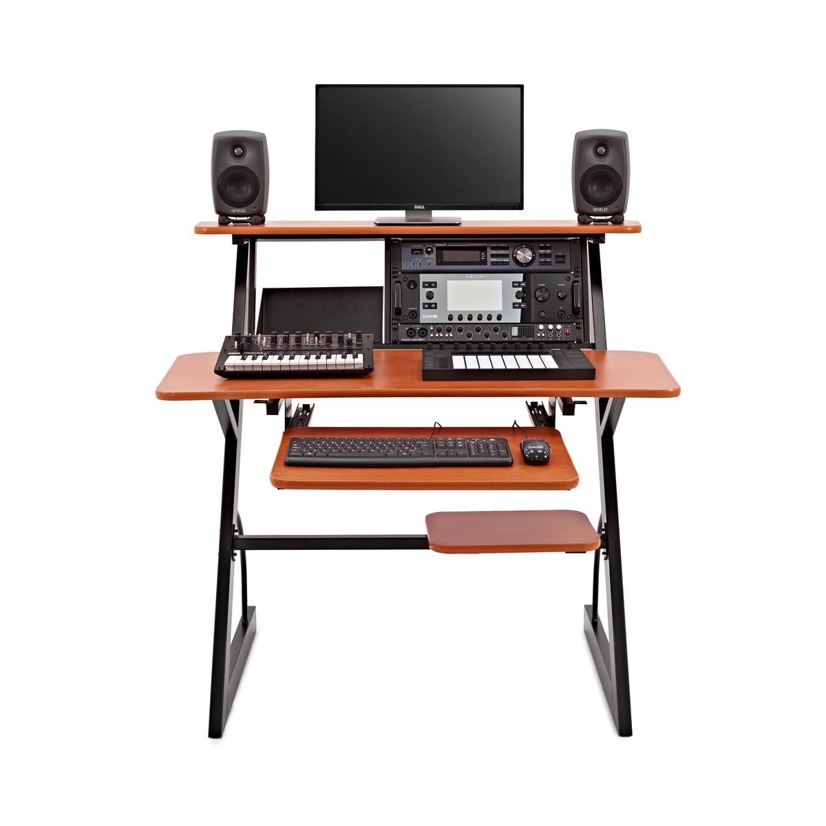 Favoloso 4 Tier Home Studio Desk by Gear4music, 6U at Gear4music.com HN24