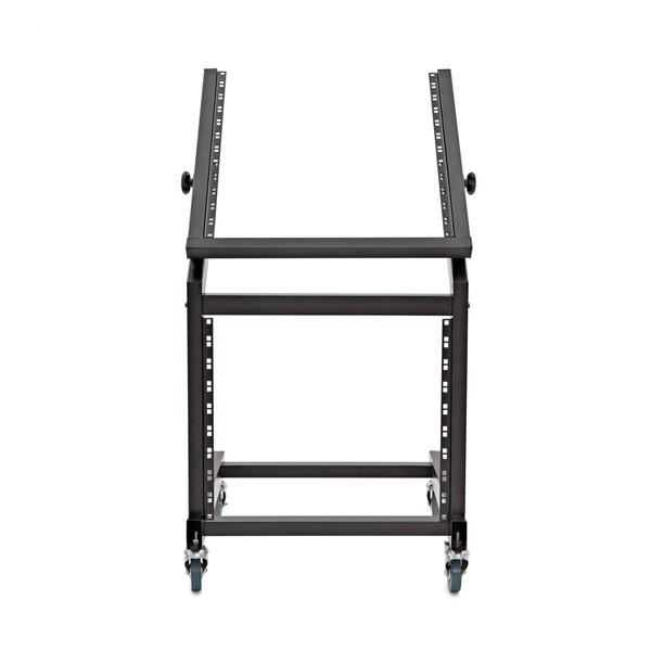 "19"" 12U + 10U Adjustable Studio Rack Trolley by Gear4music"