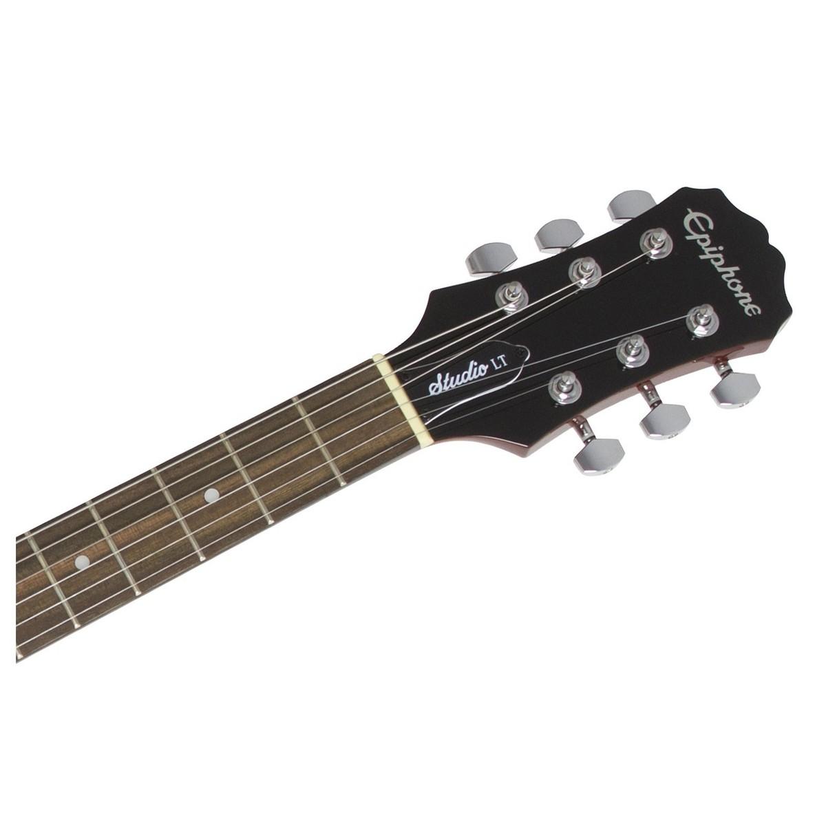 Epiphone Les Paul Studio Lt Walnut At Gear4music Single Humbucker Wiring Diagram 6 Jr Electric Guitar Neck Loading Zoom