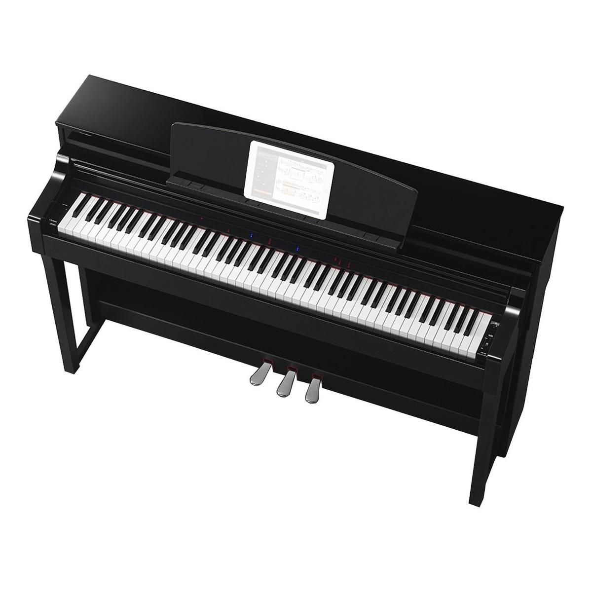 yamaha clavinova csp 170 digital piano polished ebony at On yamaha clp 170 price