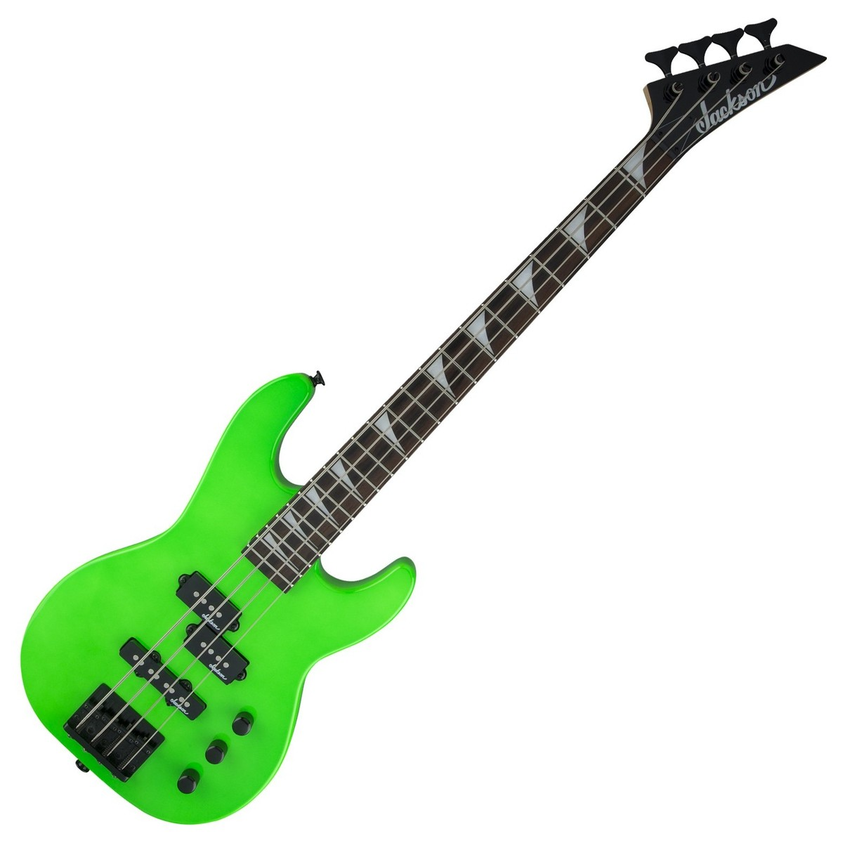 Minion Jackson Guitar Wiring Auto Diagram Today Dk2fs House Symbols Js1x Concert Bass Neon Green At Rh Gear4music Com Pickup