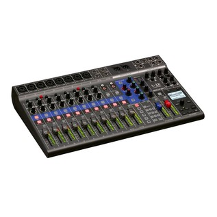 Zoom LiveTrack L-12 Mixing Desk - Angled