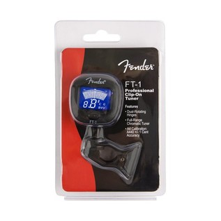 Fender FT-1 Pro Clip-On Tuner, Black  in pack