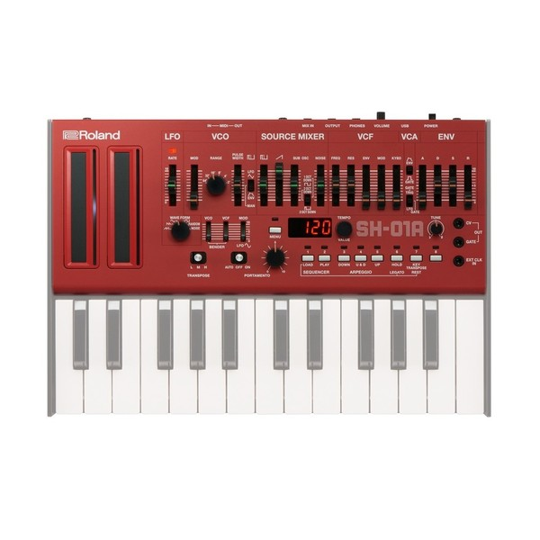 Roland SH-01A Sound Module, Red - With Keys (Keys Not Included)
