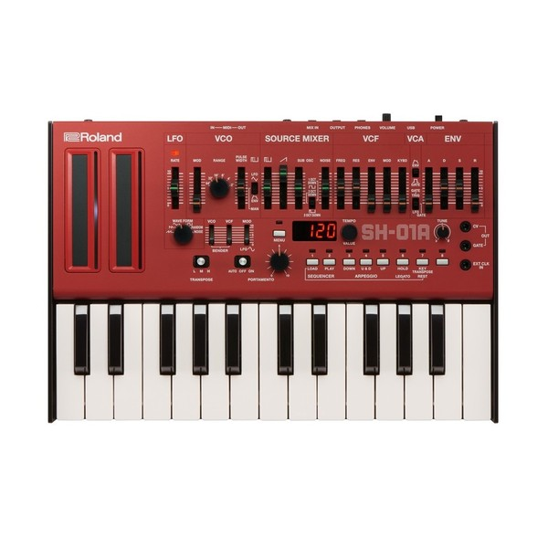 Roland SH-01A Module with K-25m Keyboard, Red - Bundle