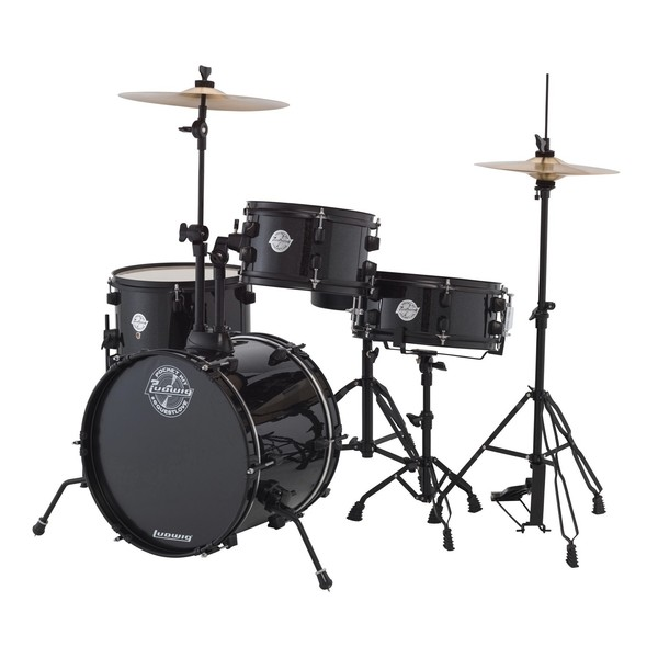 Ludwig Pocket Kit By Questlove, Black Sparkle with Free Lessons
