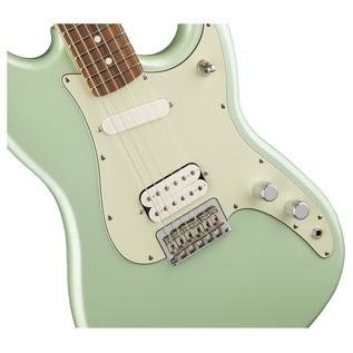 Fender Duo Sonic HS Electric Guitar, Pau Ferro, Surf Green body