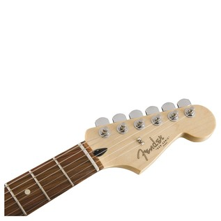 Fender Duo Sonic HS Electric Guitar, Pau Ferro, Surf Green headstock