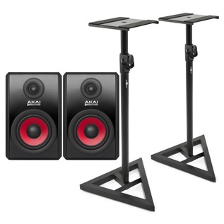 Akai RPM 500 Studio Monitors with Stands - Bundle