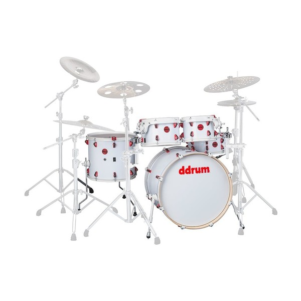 DDrum Hybrid 6pc Shell Pack w/ Built In Triggers, White