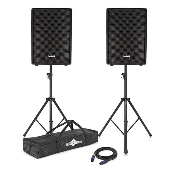"""SubZero 700W 12"""" Active/Passive Speaker System"""