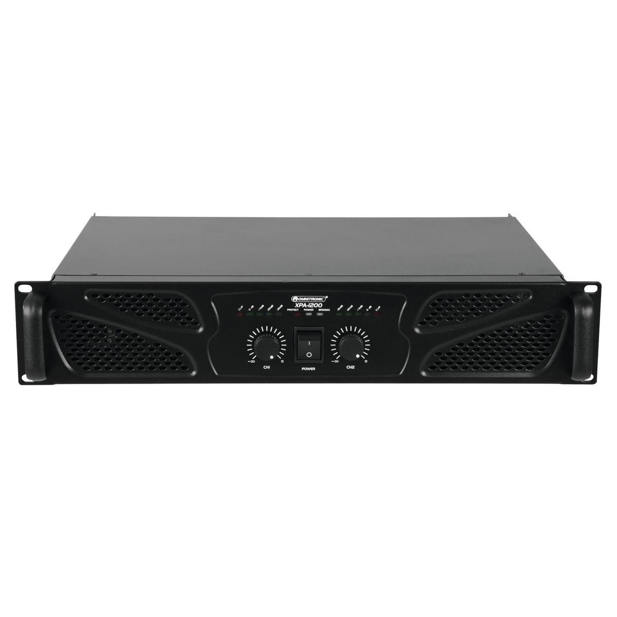 Omnitronic Xpa 1200 Amplifier At Gear4musiccom 610w Telephone Wall Socket Wiring