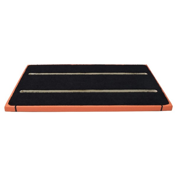 Ruach Orange Tolex 3 Pedal Board