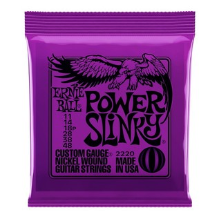 Ernie Ball Power Slinky 2220 Nickel Guitar Strings 11 - 48 front of pack