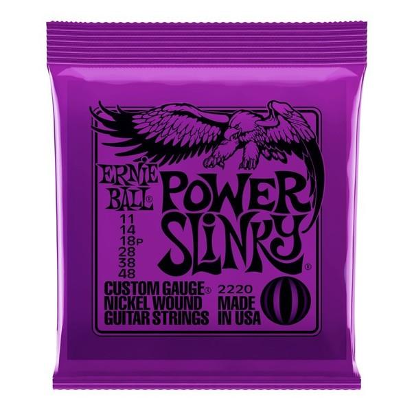 Ernie Ball Power Slinky 2220 Nickel Guitar Strings 11 - 48 front of pack