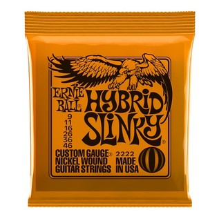 Ernie Ball Hybrid Slinky 2222 Nickel Guitar Strings 9-46 front of pack