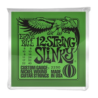 Ernie Ball Slinky 2230 Nickel Guitar 12 String 8-40 front of pack