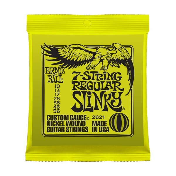 Ernie Ball Regular Slinky 2621 Nickel 7 String 10-56