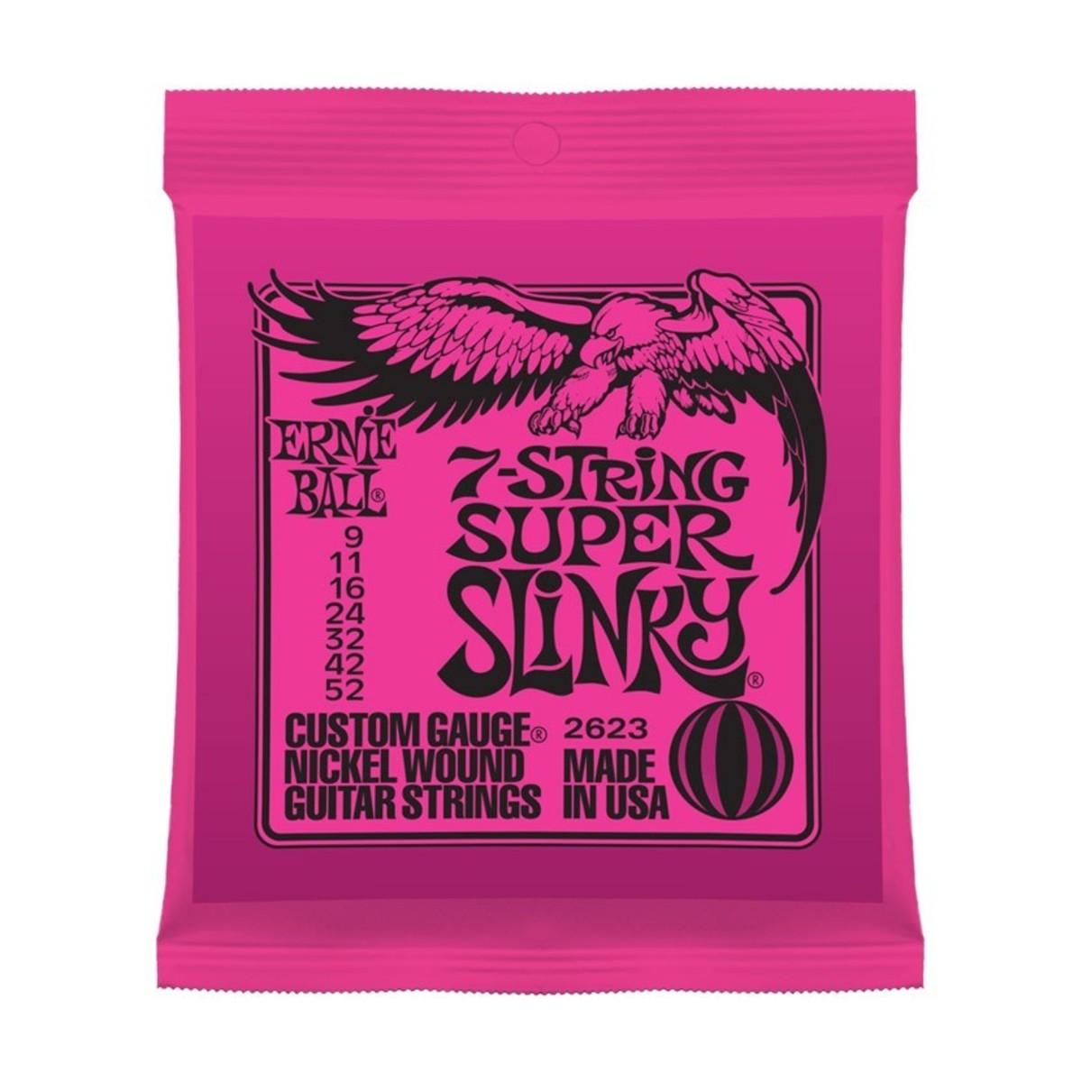 ernie ball super slinky 2623 nickel 7 string 9 52 at gear4music. Black Bedroom Furniture Sets. Home Design Ideas