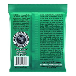 Ernie Ball Not Even Slinky 2626 Nickel Guitar Strings 12-56 back of pack