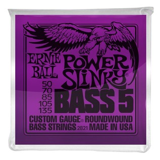 Ernie Ball Power Slinky 2821 Nickel Bass 5 String 50-135 front of pack