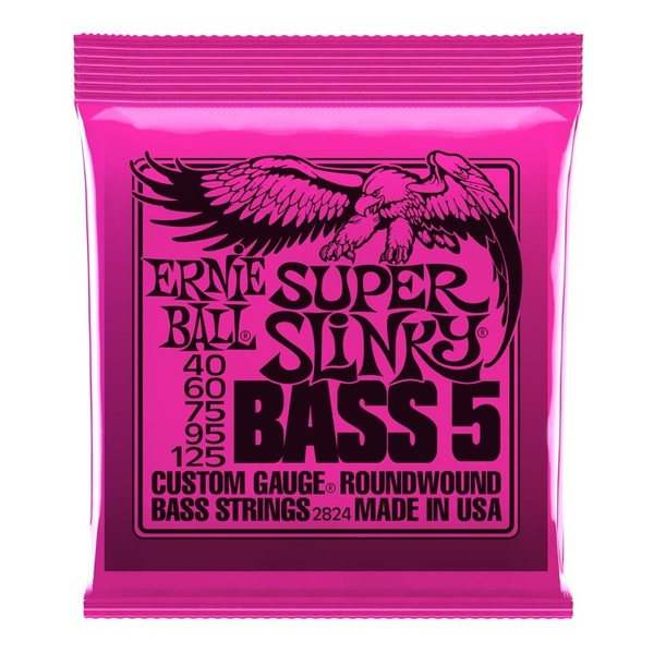 Ernie Ball Super Slinky 2824 Nickel Bass 5 String 40-125 front of pack
