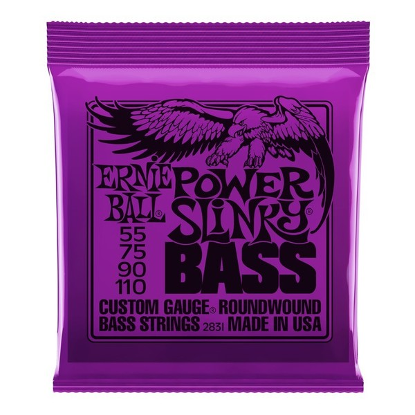 Ernie Ball Power Slinky 2831 Nickel Bass Guitar Strings 55-110 front of pack