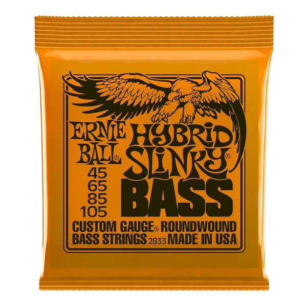 Ernie Ball Hybrid Slinky 2833 Nickel Bass Guitar Strings 45-105 front of pack