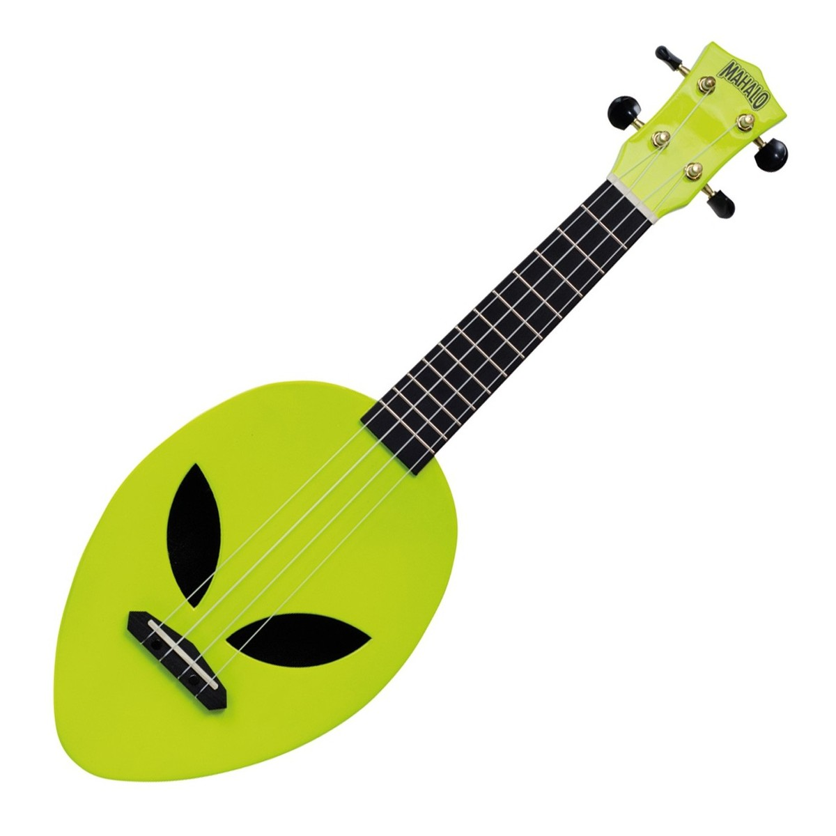 Mahalo Creative Alien Soprano Ukulele Neon Green At