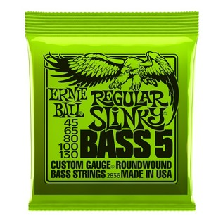 Ernie Ball Regular Slinky 2836 Nickel Bass 5 String 45-130 front of pack