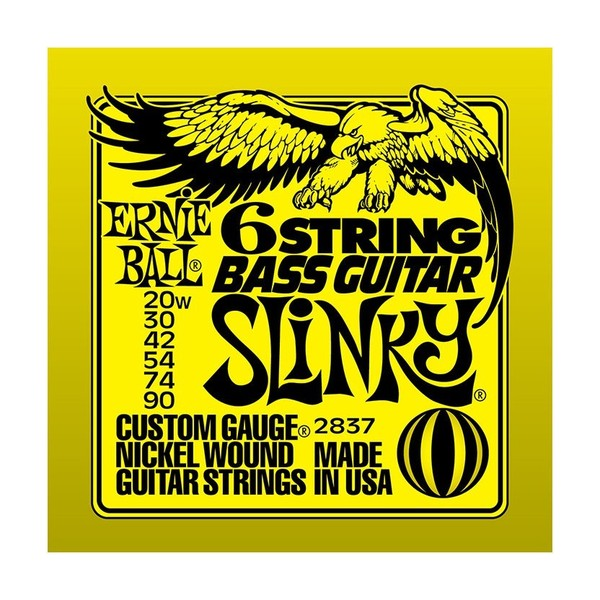 Ernie Ball Slinky Nickel 2837 Bass/Baritone Guitar 6 String 20-90
