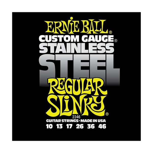 Ernie Ball Stainless Steel Regular Slinky 2246 Guitar Strings 10-46