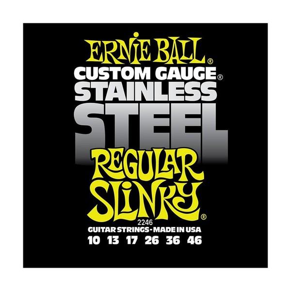 Ernie Ball Stainless Steel Regular Slinky 2246 Guitar Strings 10-46