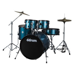 DDrum D2 Player 5pc Drum Kit, Blue Pinstripe