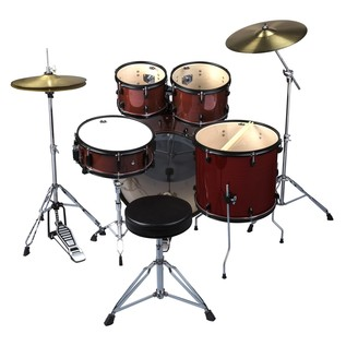 DDrum D2 Player 5pc Drum Kit, Red Pinstripe