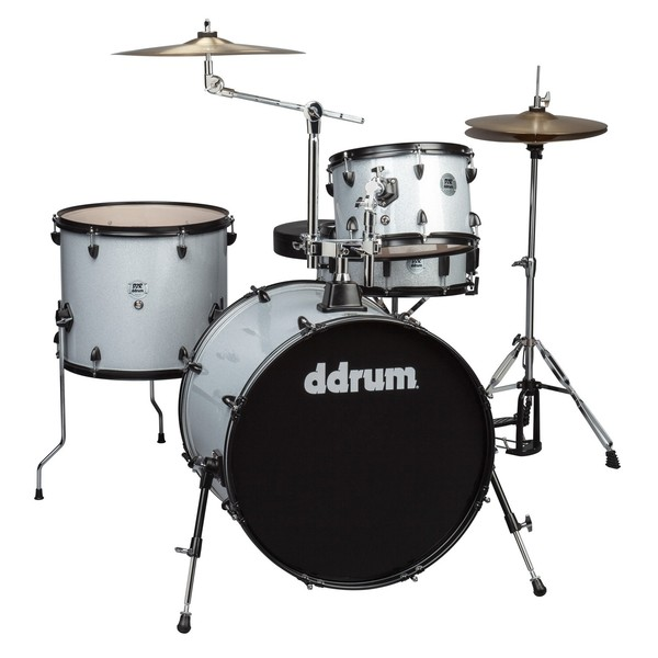 DDrum D2 Rock 4pc Drum Kit, Silver Sparkle