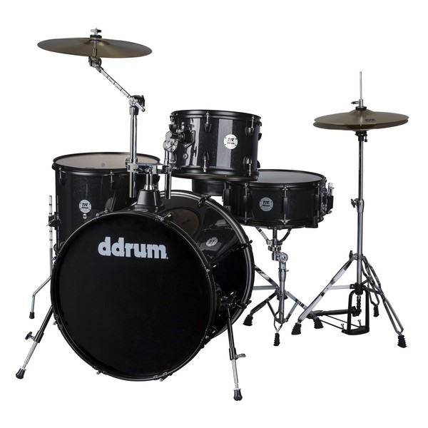 DDrum D2 Rock 4pc Drum Kit, Black Sparkle