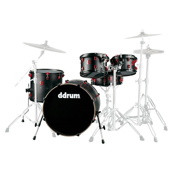 DDrum 22'' Hybrid 5pc Shell Pack w/ Built In Triggers, Black