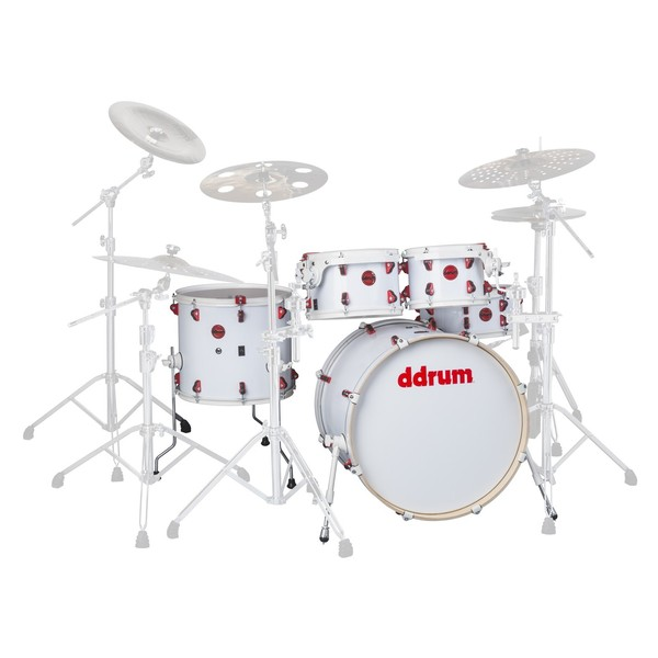DDrum Hybrid 22'' 5pc Shell Pack w/ Built In Triggers, White