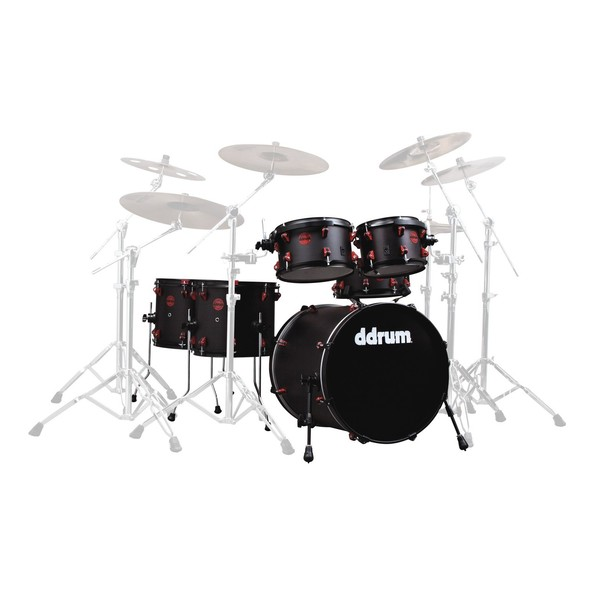 DDrum Hybrid 6pc Shell Pack w/ Built In Triggers, Black
