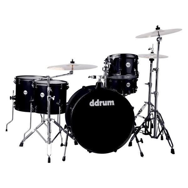 DDrum Journeyman Rambler 5pc Drum Kit, Black Sparkle