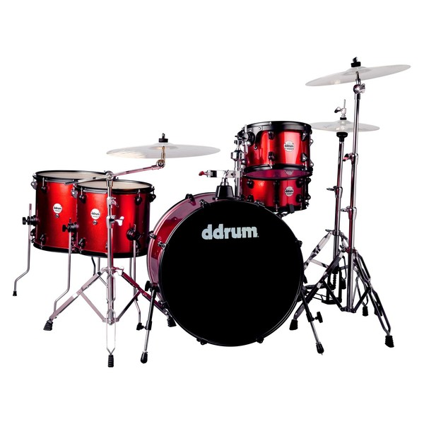 DDrum Journeyman Rambler 5pc Drum Kit, Red Sparkle